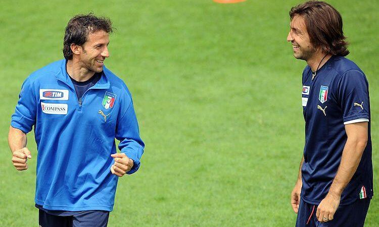 Del Piero và Pirlo từng sát cánh cùng nhau ở đội tuyển Italy. Ảnh: Juventus FC.