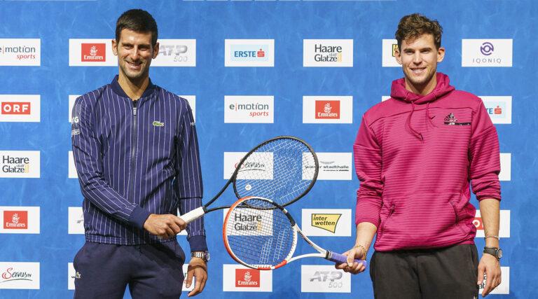 Djokovic sẽ gặp nhiều đối thủ mạnh, như Dominic Thiem, tại Erste Bank Open năm nay. Ảnh: Erstebankopen.