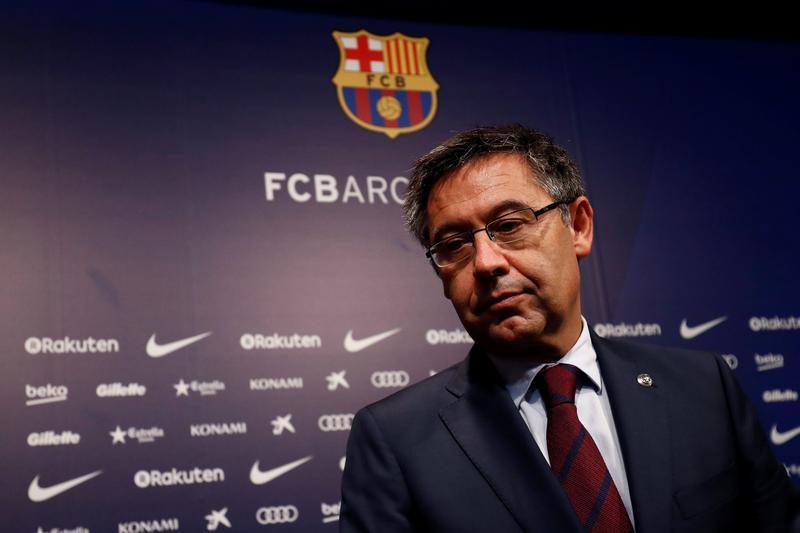 Bartomeu làm Chủ tịch Barca từ năm 2014, khi đội bóng còn Messi và Neymar ở thời kỳ sung sức. Ảnh: Reuters.