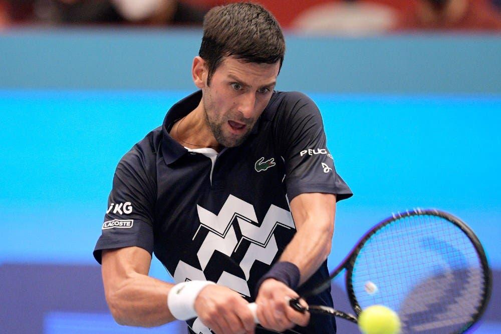 Djokovic có 39 điểm winner ở trận gặp Krajinovic. Ảnh: AP.