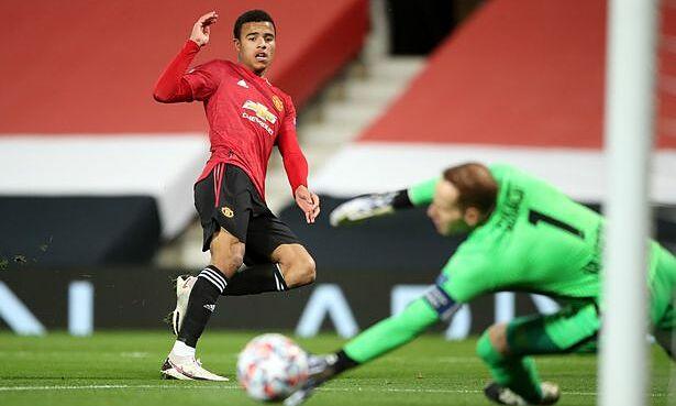 Greenwood ghi bàn thứ sáu ở Cup châu Âu, san bằng kỷ lục của Marcus Rashford về số bàn thắng của một cầu thủ Anh tuổi teen. Ảnh: PA