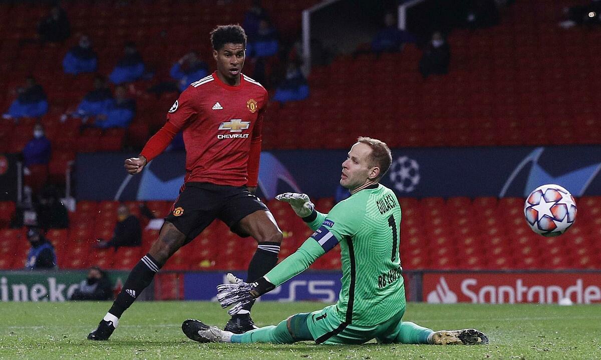 Rashford ghi bàn nâng tỷ số lên 2-0. Ảnh: Reuters