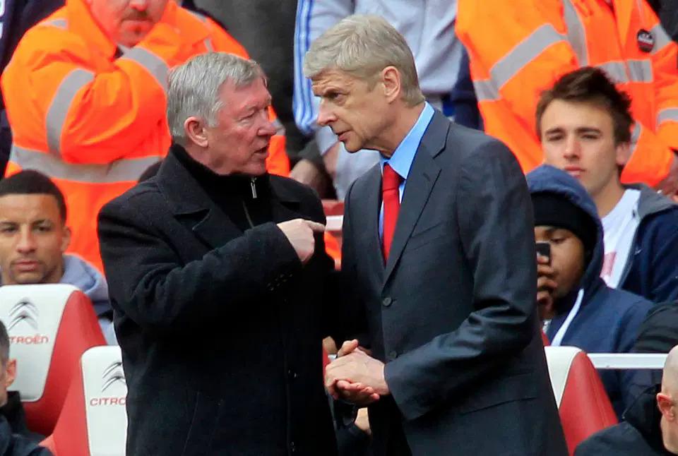Ferguson và Wenger từng cùng Man Utd và Arsenal định hình Ngoại hạng Anh một thời. Ảnh: The Times