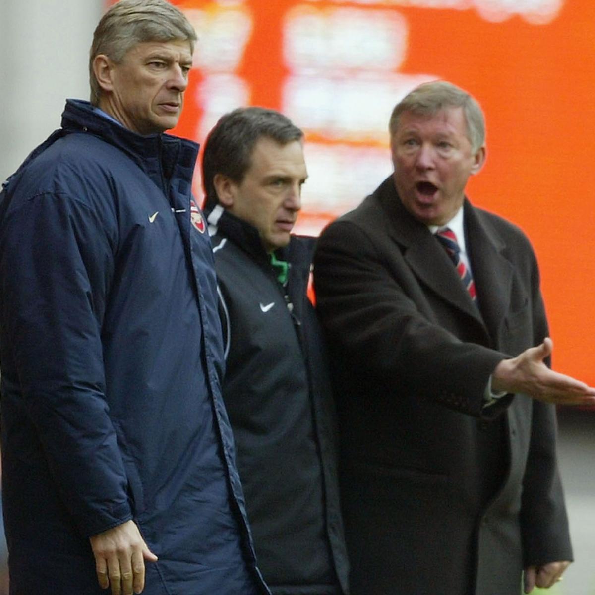 Gay gắt nhưng lịch lãm, Wenger và Ferguson luôn giữ cho các cuộc đối đầu giữa họ mang tính chất hiệp sỹ, thượng lưu. Ảnh: PA