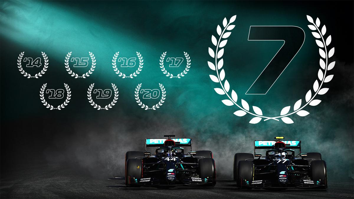 Mercedes lập kỷ lục bảy năm liền là đội đua vô địch F1.