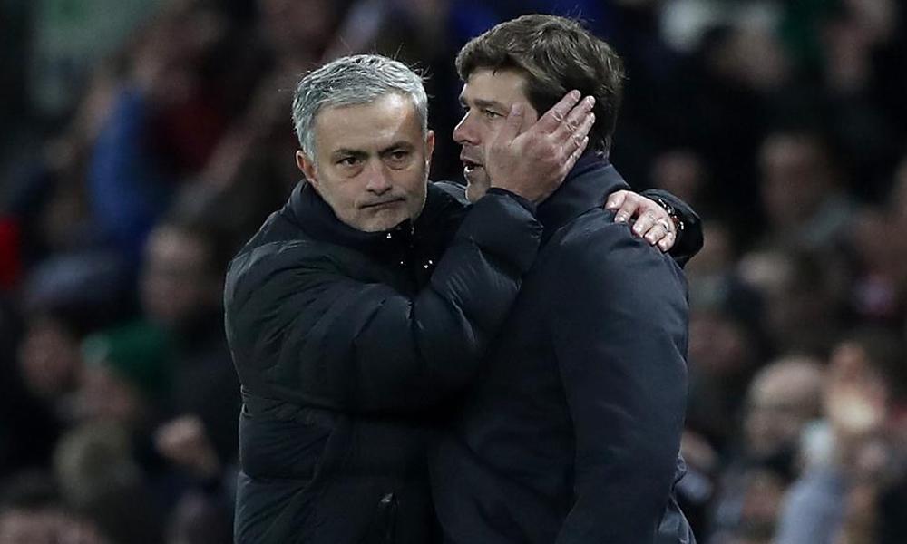 Pochettino และ Mourinho ยังคงเผชิญหน้ากันในสนามพรีเมียร์ลีกในเสื้อ Tottenham - Man Utd  ภาพ: PA