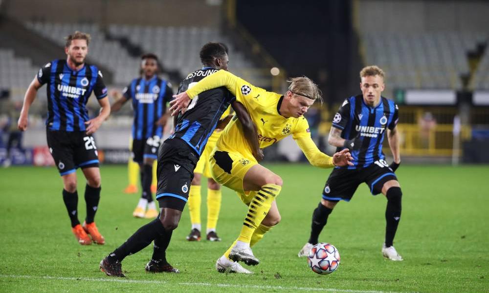 Haaland đã ghi 10 bàn cho Dortmund qua 10 lần ra sân trên mọi đấu trường mùa này. Ảnh: France Football