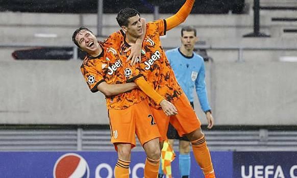Morata (giữa) ghi bốn bàn trong năm trận gần nhất. Ảnh: Gazzetta