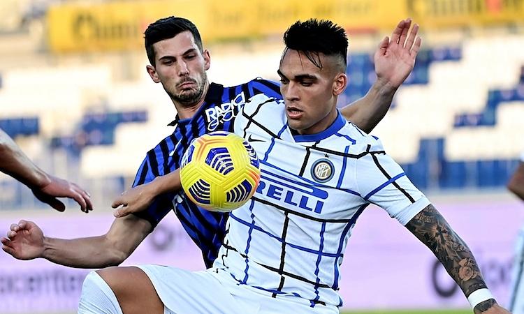 Bàn thắng của Martinez không đủ để giúp Inter giành chiến thắng. Ảnh: AFP.