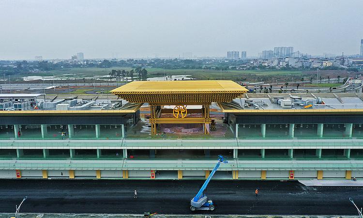 Toà nhà Pit của trường đua Hà Nội, nơi được kỳ vọng sẽ là đại bản doanh của các đội đua F1 khi GP Việt Nam được tổ chức. Ảnh: Ngọc Thành.
