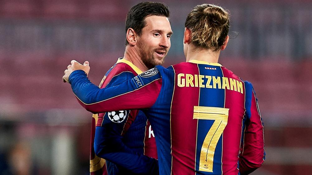 Mùa trước, Messi có ba kiến tạo cho Griezmann lập công – nhiều hơn bất cứ cầu thủ Barca nào. Ảnh: BeIN Sports.