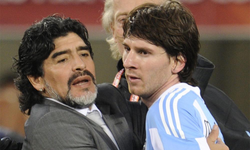 Messi từng chơi bóng dưới trướng Maradona ở World Cup 2020.