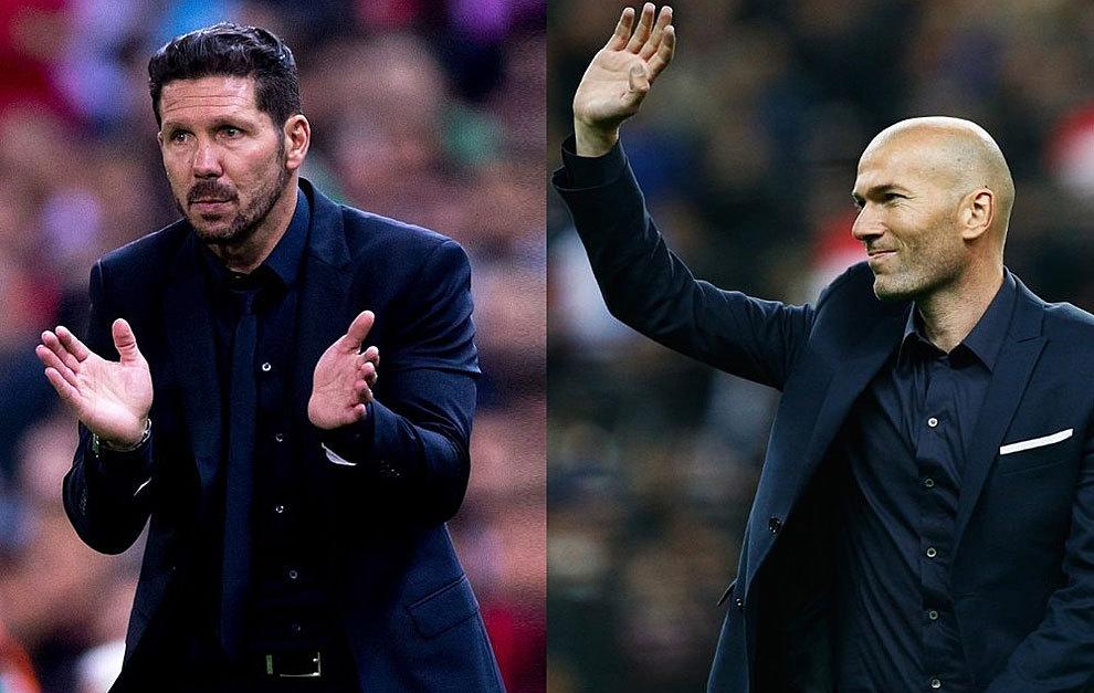 Simeone và Zidane đều không theo đuổi trường phái bóng đá phóng khoáng. Ảnh: Marca.