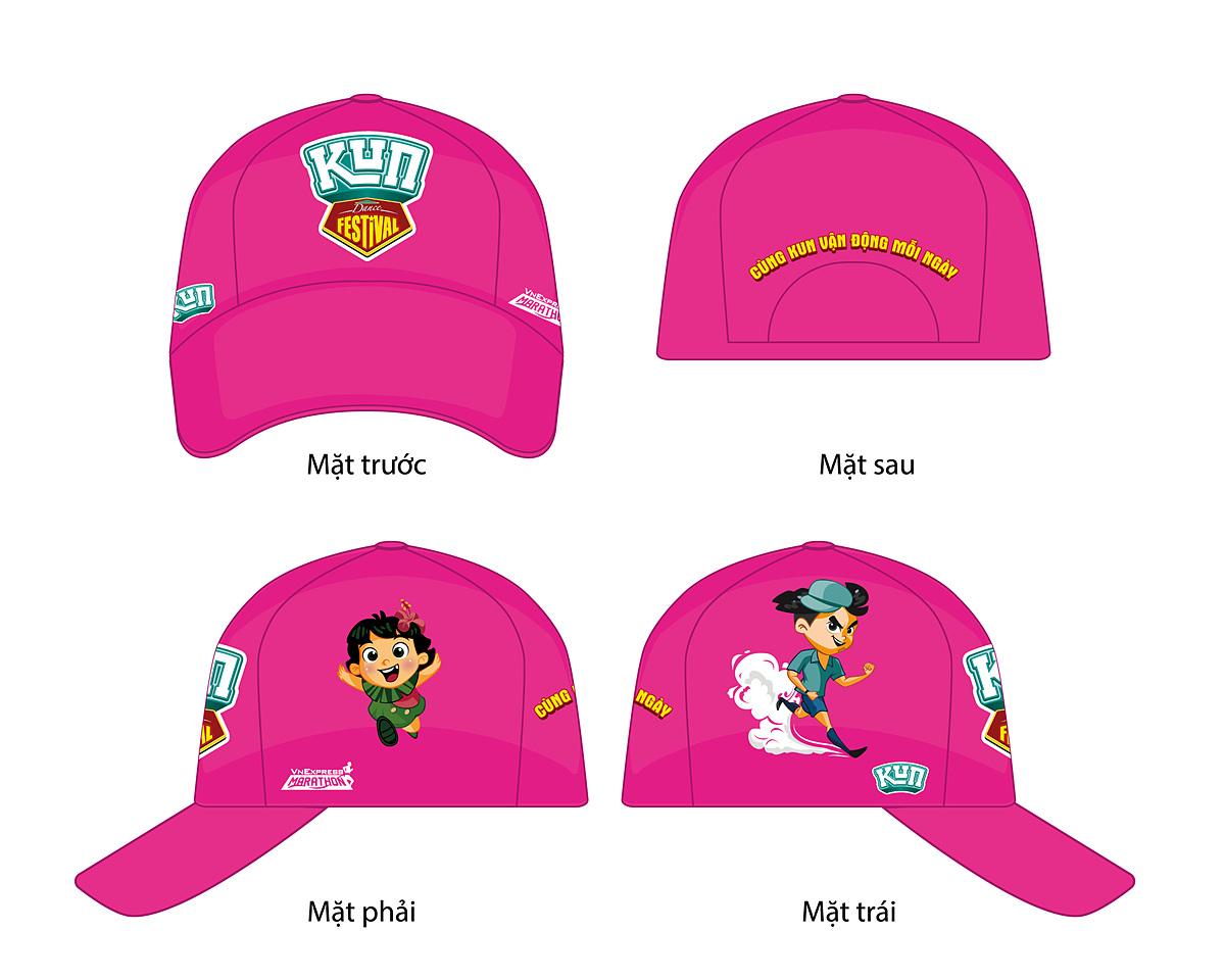Mũ cho runner nhí tại Kun Marathon Hanoi 2020.