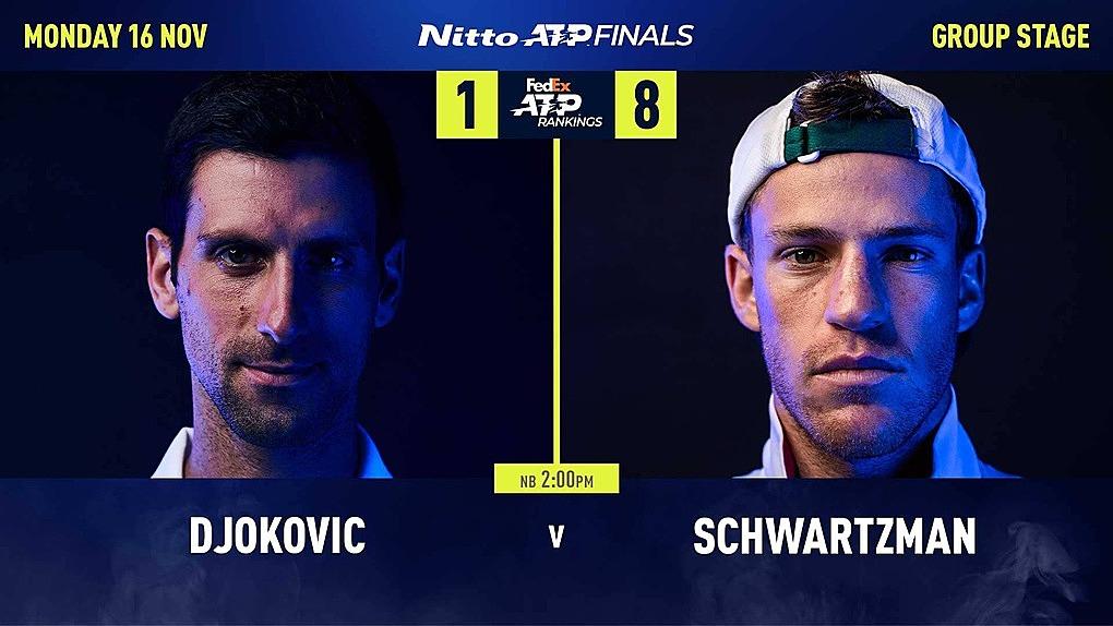 Mọi thống kê đối đầu giữa hai tay vợt đều nghiêng về Djokovic, người vừa có kỷ lục sáu lần kết thúc năm ở ngôi số một. Ảnh: ATP.