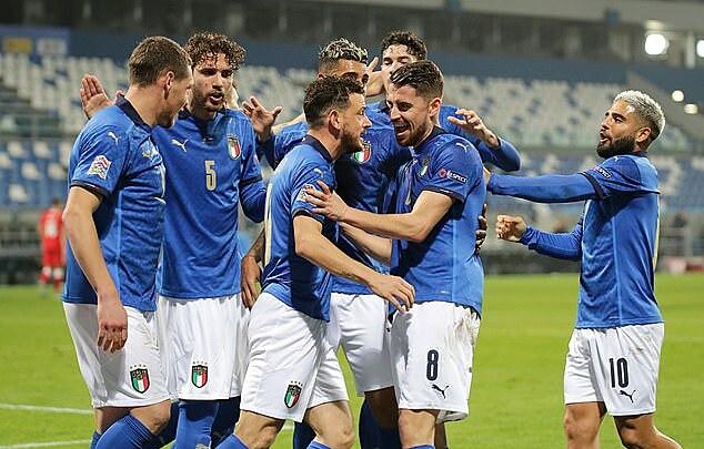อิตาลีชนะบอสเนีย 2-0 เมื่อเย็นวันที่ 18 พฤศจิกายนและคว้าสิทธิ์เข้าสู่รอบรองชนะเลิศ Nations League  ภาพ: REX.