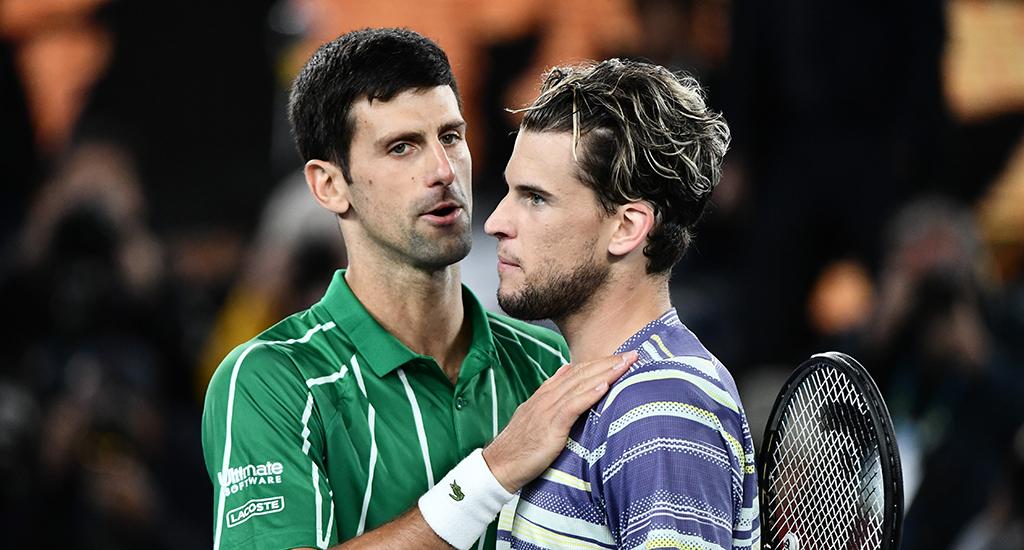 Djokovic và Thiem sẽ gặp nhau ở bán kết ATP Finals hôm nay, 21/11. Ảnh: ES.