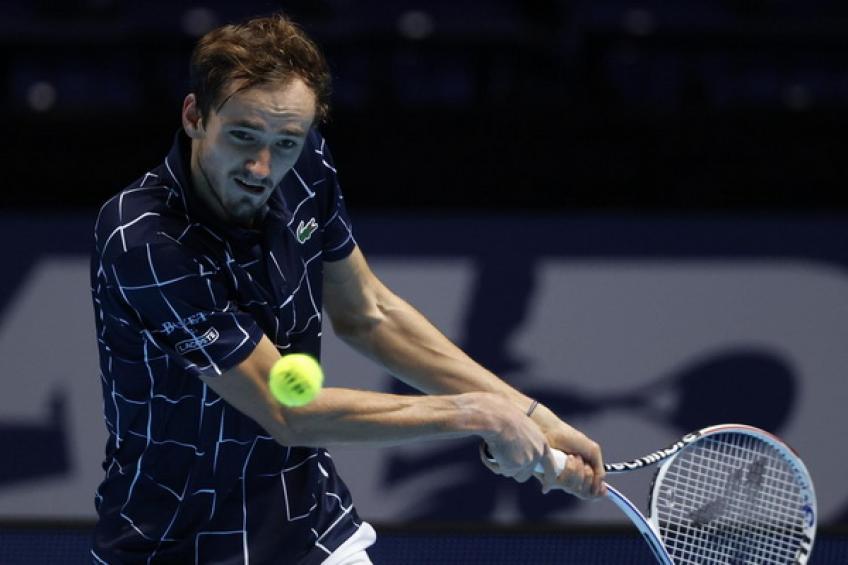 Medvedev là tay vợt có phong độ tốt nhất vòng bảng ATP Finals 2020. Ảnh: Tennis World.