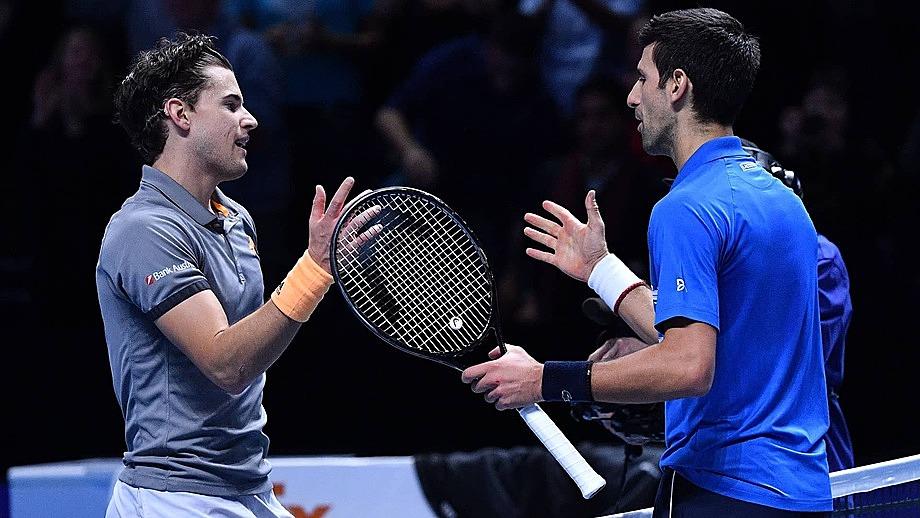 Thiem từng khiến Djokovic bị loại ở vòng bảng ATP Finals năm ngoái. Ảnh: ATP.