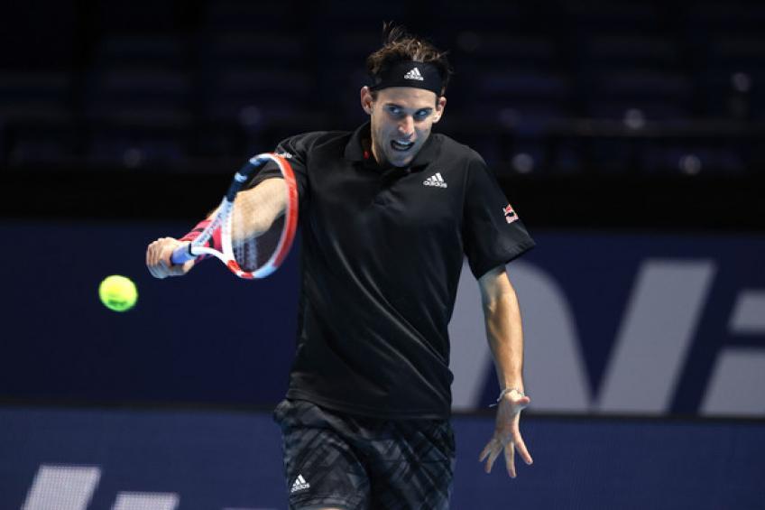 Thiem đánh bại Djokovic sau trận đấu dài hai giờ 57 phút. Ảnh: Tennis World.