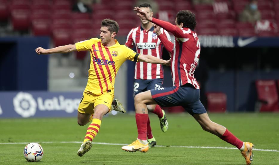 Atletico bắt bài Barca trong trận đấu tối 21/11. Ảnh: MD.