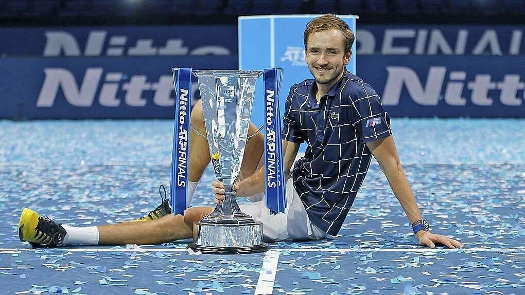 Medvedev thắng 10 trận thắng liên tục và giành hai danh hiệu chỉ trong ba tuần. Ảnh: ATP.