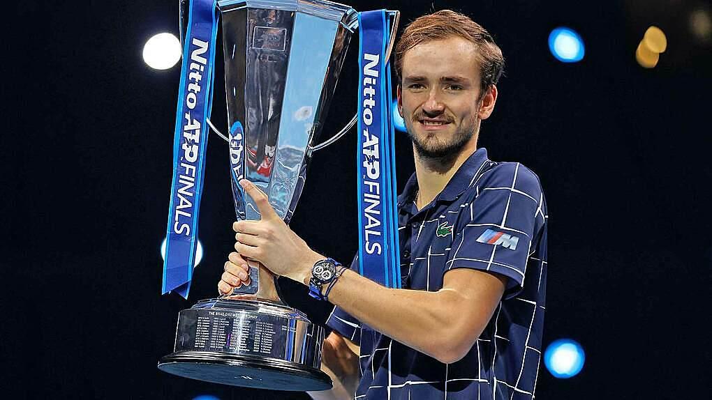 ATP Finals là danh hiệu cao quý nhất trong tám chức vô địch của Medvedev tính tới lúc này. Ảnh: ATP.