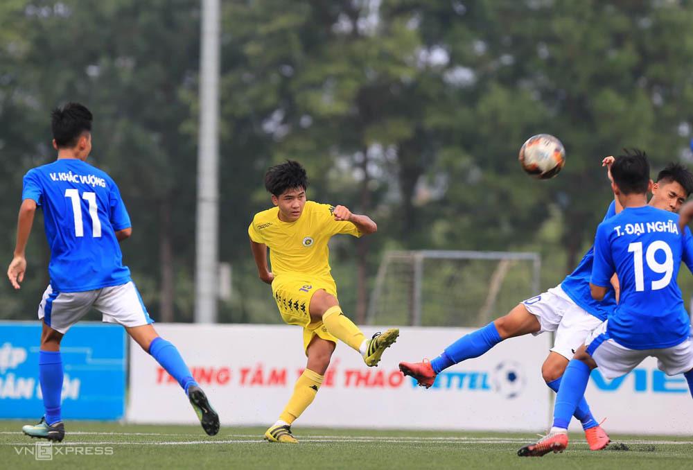 ฮานอย (เสื้อเหลือง) ถือเป็นตัวเต็งที่สดใสสำหรับ U17 National Cup Championship 2020