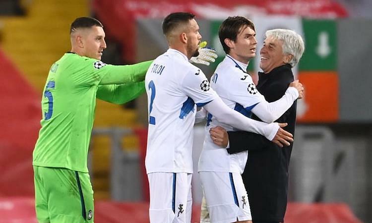 Atalanta là đội bóng Italy thứ hai trong lịch sử thắng trên sân Anfield tại Champions League. Ảnh: Reuters.