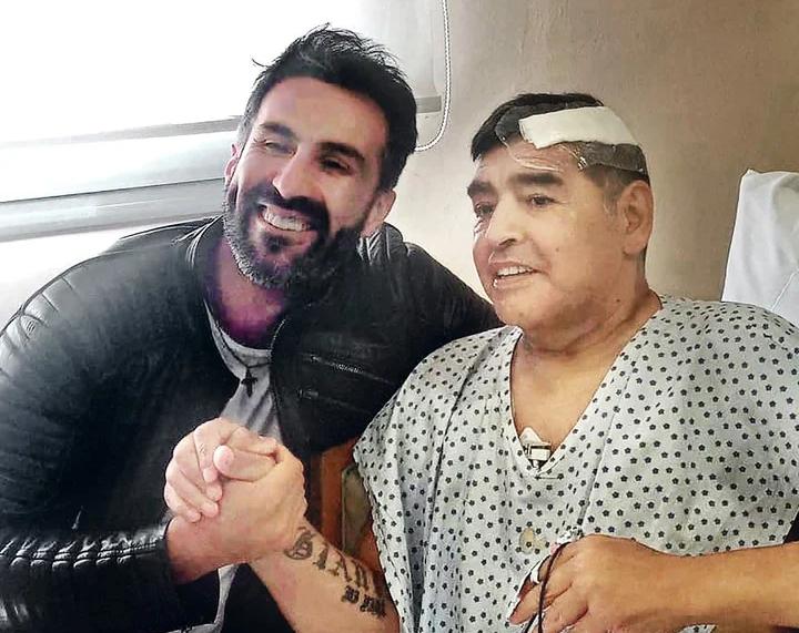 Maradona และ Dr. Luque ในภาพสุดท้ายของเขา  ภาพ: Twitter