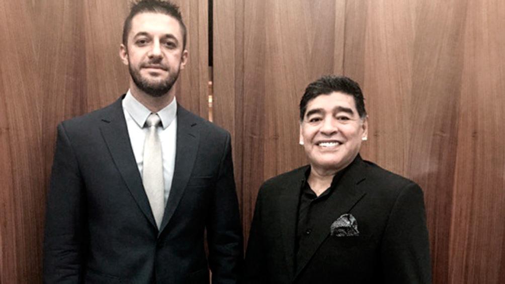 Morla là cánh tay đắc lực của Maradona khi theo đuổi hàng chục vụ kiện những năm qua. Ảnh: Telam.