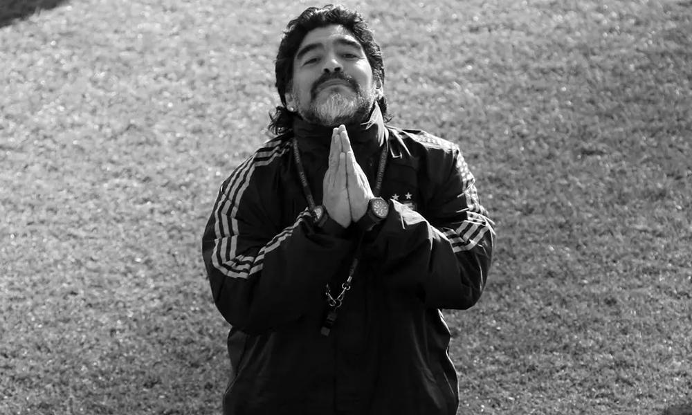 Maradona gắn bó với tuyển Argentina trên cả hai cương vị cầu thủ và HLV trưởng. Ảnh: La Nacion