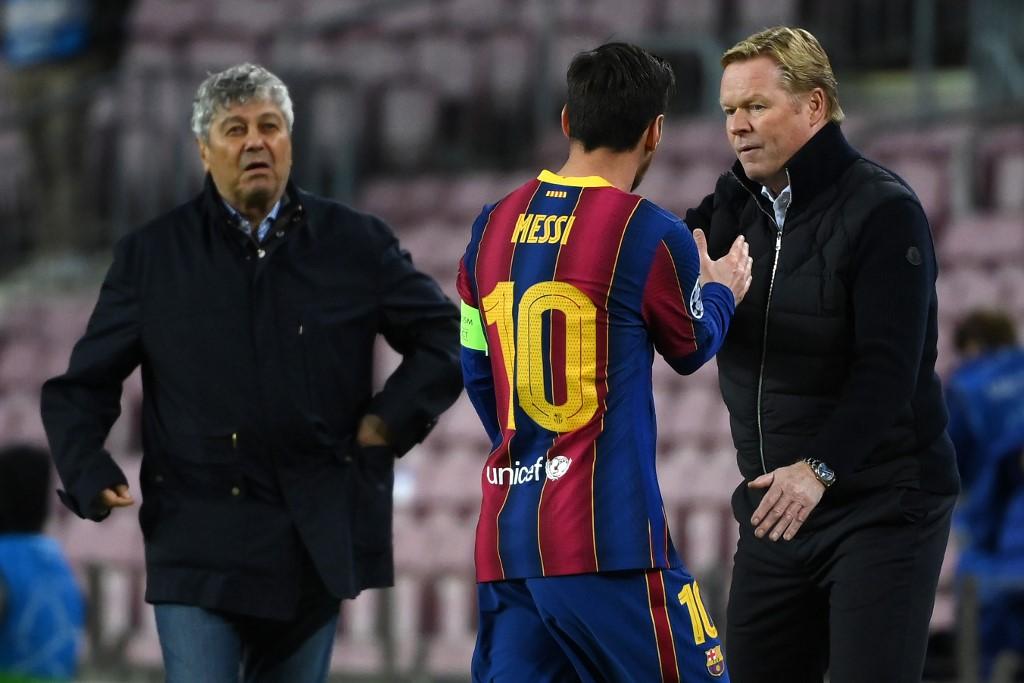 Messi ghi 6 bàn cho Barca từ đầu mùa, nhưng 5 bàn trên chấm 11m. Ảnh: AFP.