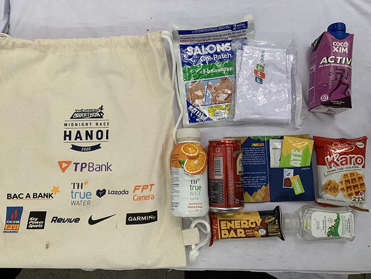 Sản phẩm Unimate trong bộ Race Kit của giải VnExpress Hanoi Midnight Marathon.
