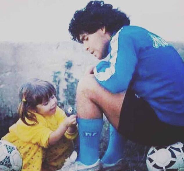 วัยเด็กของ Dalma และพ่อที่ดี  ภาพ: Instagram