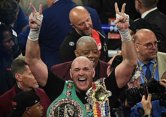 Tyson Fury now holds the World WBC belt, after defeating Deontay Wilder.  Photo: AFP.