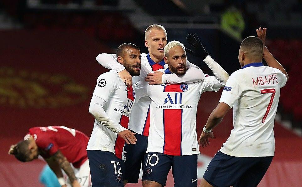 PSG từng đối diện nguy cơ bị loại sau giai đoạn một vòng bảng, nhưng hai trận thắng trước Leipzig và Man Utd giúp họ xoay chuyển tình thế 180 độ. Ảnh: PA.