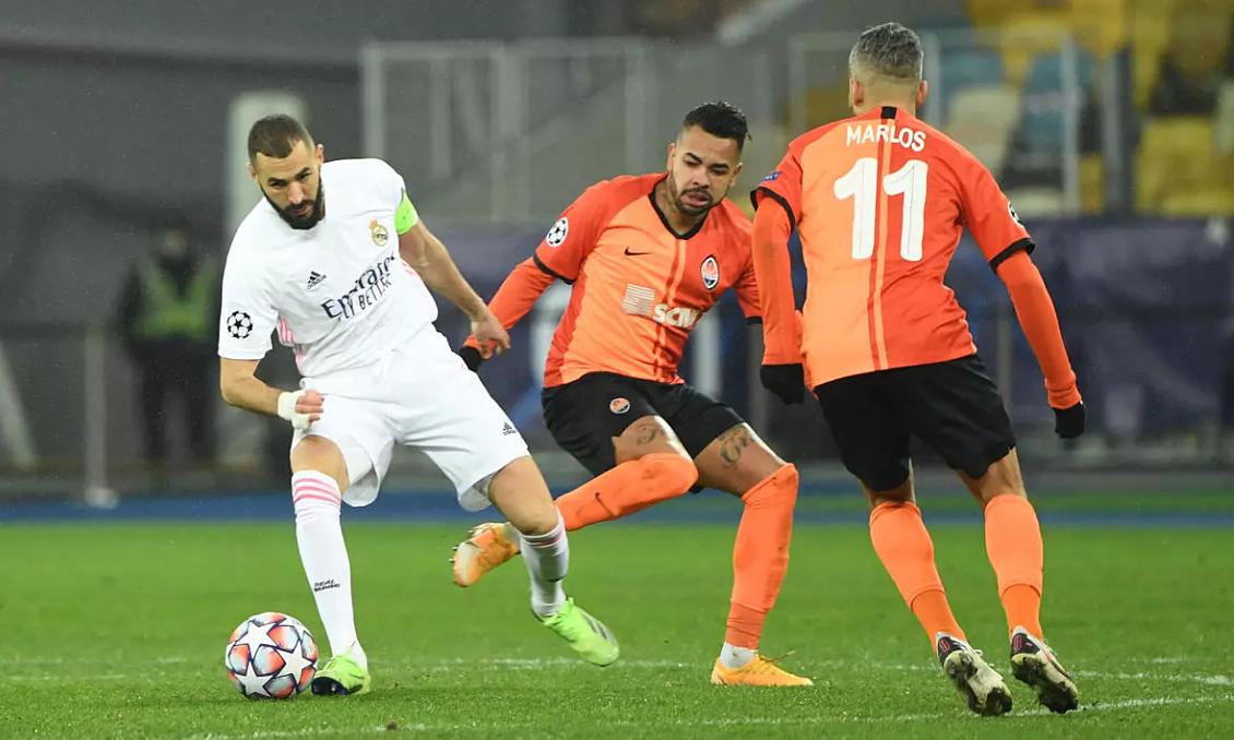 Thua Shakhtar Donetsk cả hai trận, Real bị đẩy vào thế khó ở lượt đấu cuối. Ảnh: AFP.