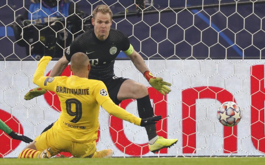 Braithwaite liên tục ghi bàn trong ba trận cho Barca.