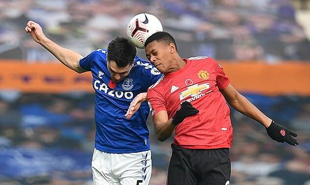 Martial đá vị trí tiền đạo cắm trong 11 trận mùa này, nhưng mới ghi hai bàn, theo thống kê của Whoscored. Ảnh: Reuters