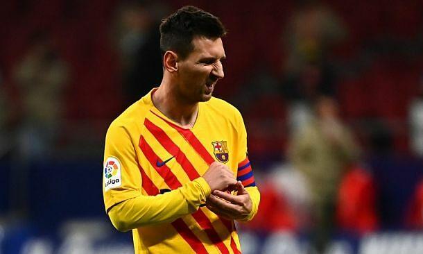 Messi đòi ra đi hè 2020, nhưng Chủ tịch Bartomeu không bán. Mùa này Messi ghi bảy bàn qua 12 trận. Ảnh: AFP