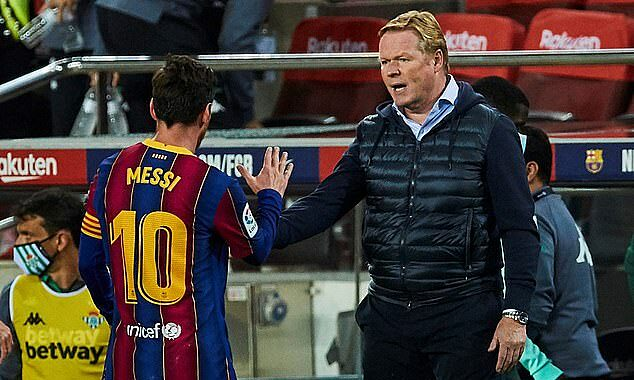 Koeman (right) has shown his personality since leading Barca, with a 64% win rate.  Photo: EPA