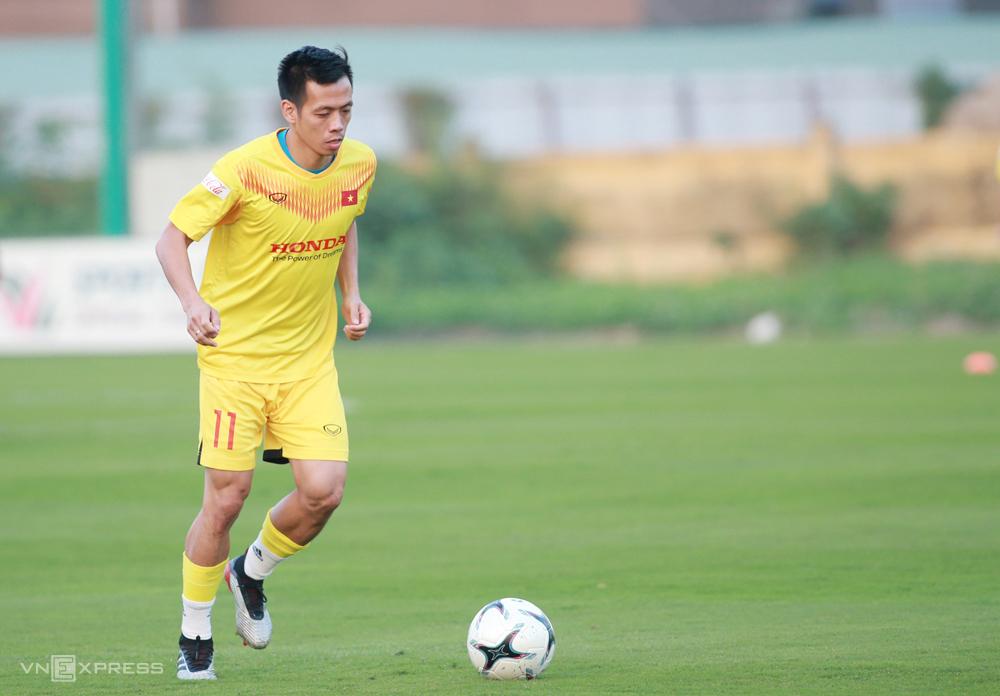 Nguyễn Văn Quyết trở lại đội tuyển sau hai năm vắng bóng. Ảnh: Lâm Thoả
