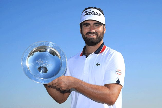 Rozner was happy with his first European Tour trophy when he was crowned at the Golf in Dubai Championship.  Photo: AFP