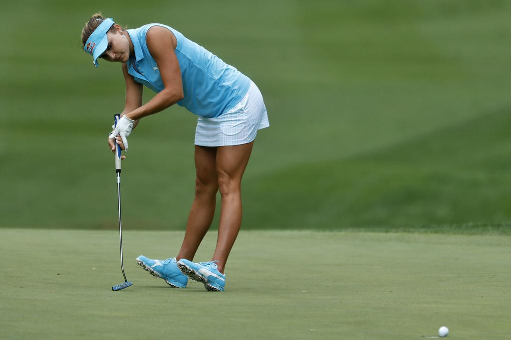 Lexi Thompson is raising her ambitions to win this year's US Womens Open.  Photo: AP