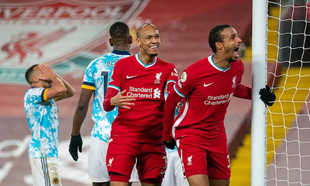 Cặp Matip (phải) - Fabinho (trái) đang chơi rất hay ở trung tâm hàng thủ Liverpool. Ảnh: Propaganda