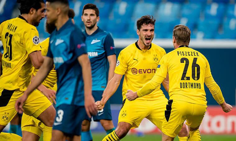 Piszczek mừng bàn gỡ 1-1 cho Dortmund. Ảnh: BVB.de