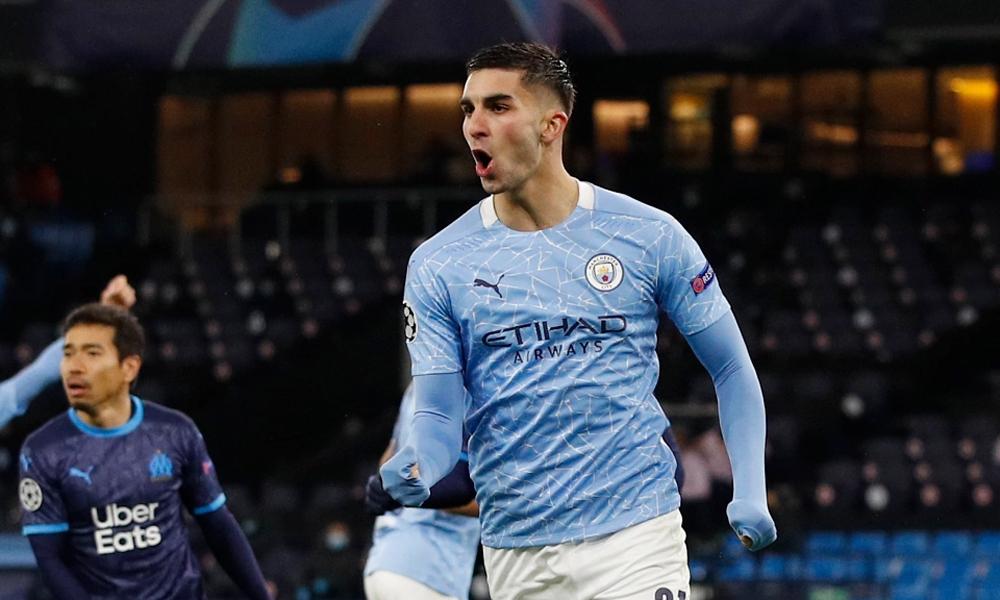 Bàn mở tỷ số trước Marseille là bàn thứ tư của Torres cho Man City tại vòng bảng Champions League năm nay. Ảnh: Reuters