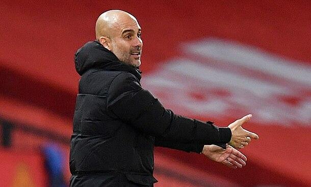 Guardiola xem việc thiếu Aguero là một lý do khiến Man City phải chia điểm với Man Utd hôm 12/12. Ảnh: Reuters