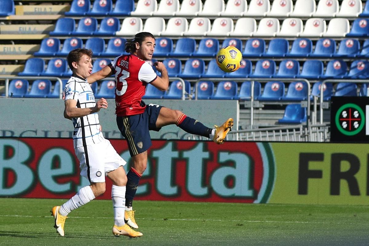 Sottil là chủ nhân bàn mở tỷ số cho Cagliari. Ảnh: ANSA